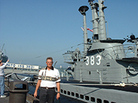 Jody Fugate by USS Pampanito at Fishermans Wharf